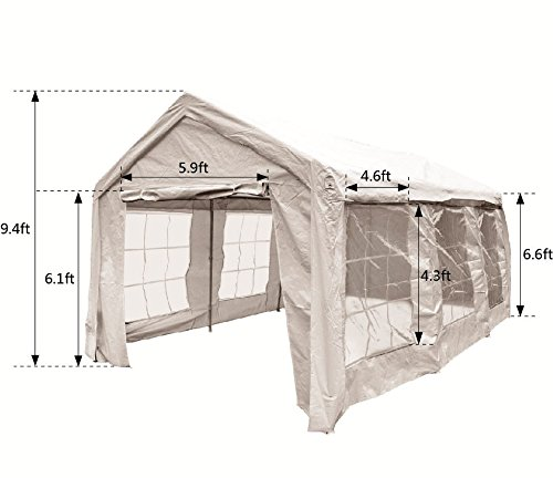 Get Quotations SNAIL 10 X 20 Ft Heavy Duty Domain Carport Car Canopy Shelter Party