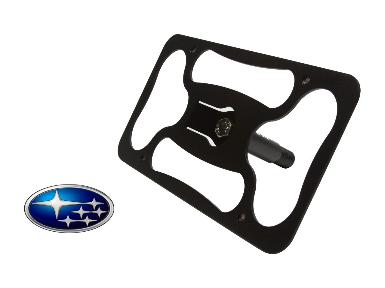 "Genuine Subaru Impreza /""STi/"" Black License Plate Frame SOA342L126 NEW STi OEM !!"