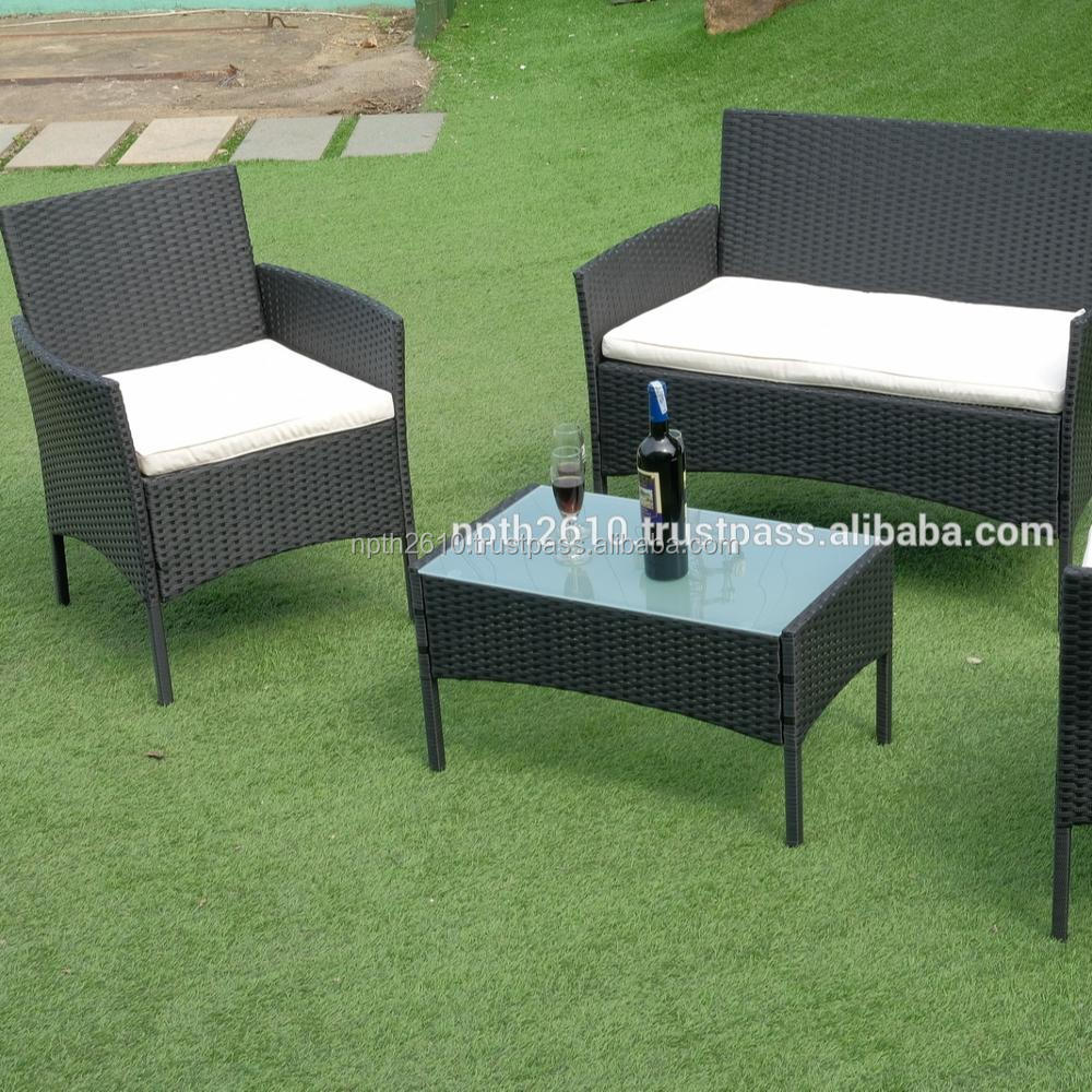Vietnam poly rattan furniture sunbed round sunbed garden furniture