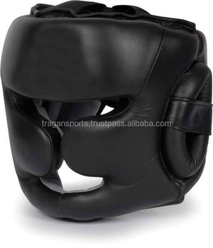 Black Good Headgear Guard Training Helmet Kick Boxing Protection Head Guard