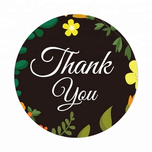 Self Adhesive Thank You Labels Printing Roll Custom Thank You Sticker