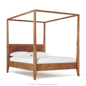 Eenvoudige Poster Bed Recycle Teak Slaapkamer Meubels - Buy Product ...