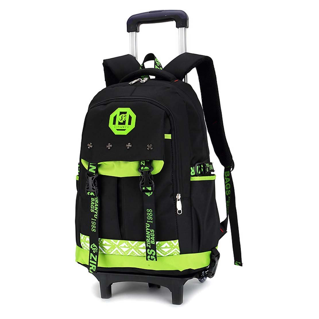 Get Quotations · HIGOGOGO Middle School Student Removable Hand Trolley  Luggage Backpack Boy Trolley School Bags 4553cafb4bf84