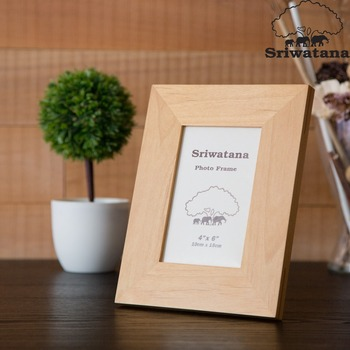 High Quality Alder Wood Picture Photo Frame Customized Size and Color