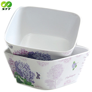 Durable nature new products tableware healthy custom printed painted bamboo soup bowl