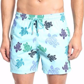 48bb968a27 Wholesale Custom Swim Trunks 100% Polyester Mesh Liner Turtle Dance Print  Beach Shorts Men Sportswear