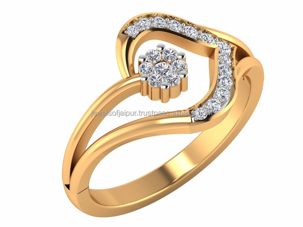 The Course Of True Love Never Did Run Smooth Beautiful Diamond Ring 14k Yellow Gold Natural Round Certified Diamond For Daily