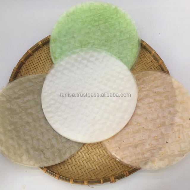 The Best Prestigious Spring Roll Rice Paper Wrapper Supplier In Vietnam Banh Trang Round