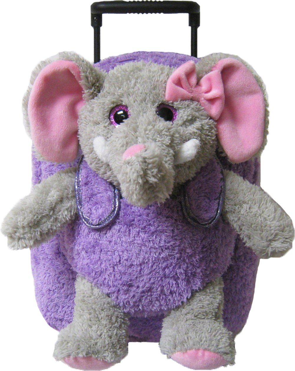 3b14550761 Get Quotations · Kreative Kids Elephant Rolling Backpack w  Shiny Eyes