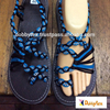 Dobbytex DBTS18 Ocean blue Twist Handmade rope Sandals/Shoes Hill tribe / Hmong / Summer / African