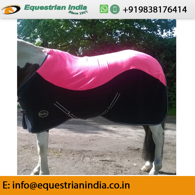 Two Tone Horse Fleece Rug
