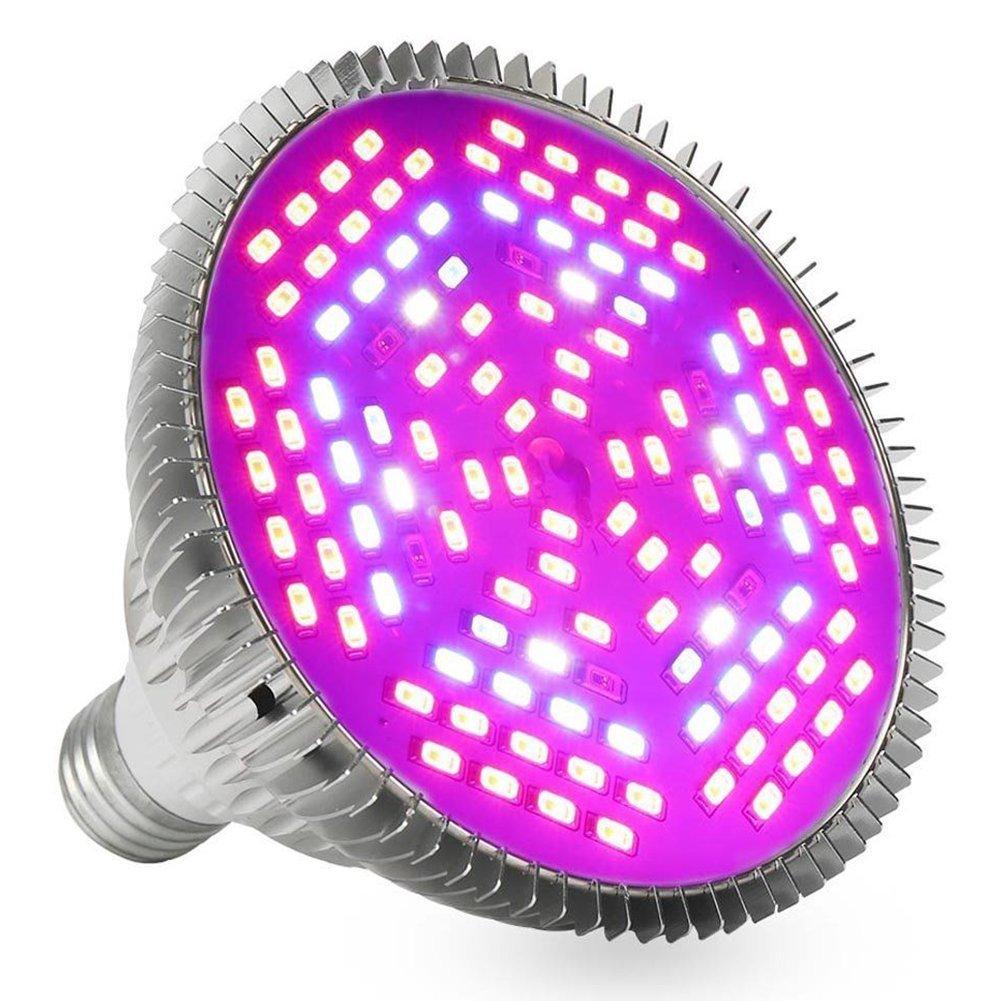 Zehui LED Plant Growth Lamp Full Spectrum E27 LED Flower Plant Grow Light Growing Lamp Light Bulb 80W