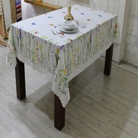 100% Polyester Digital Printing High Quality Tablecloth Summer and Spring Design