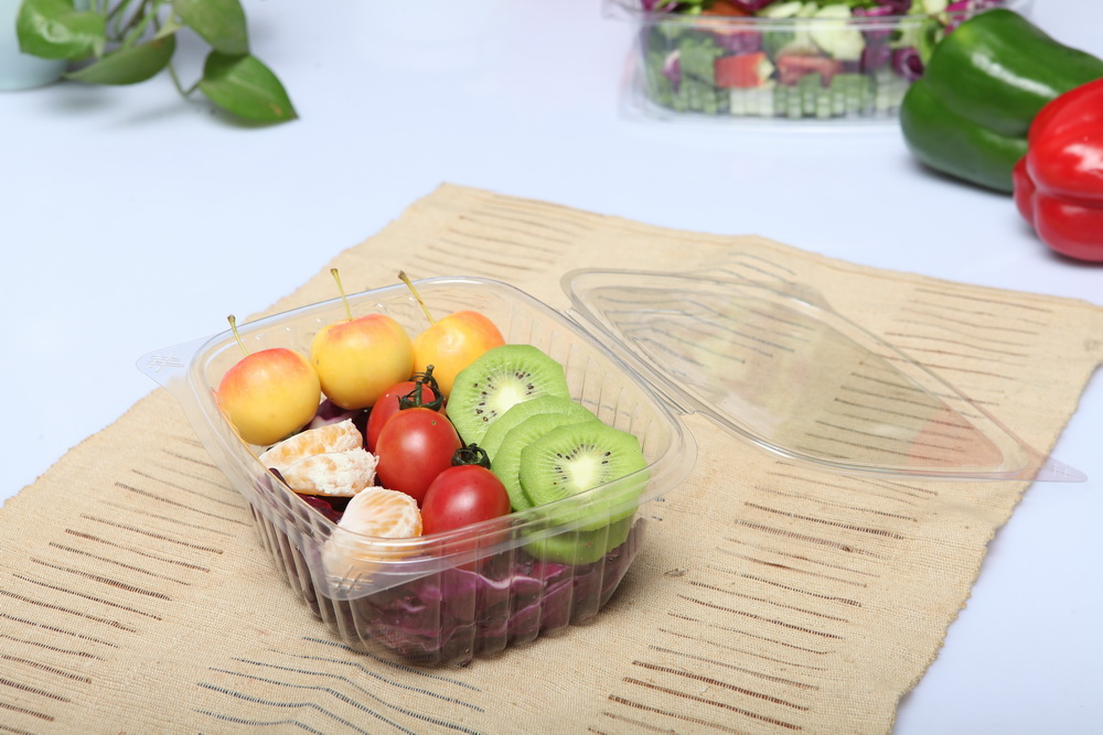 Octagon disposable 750ml plastic container food packaging