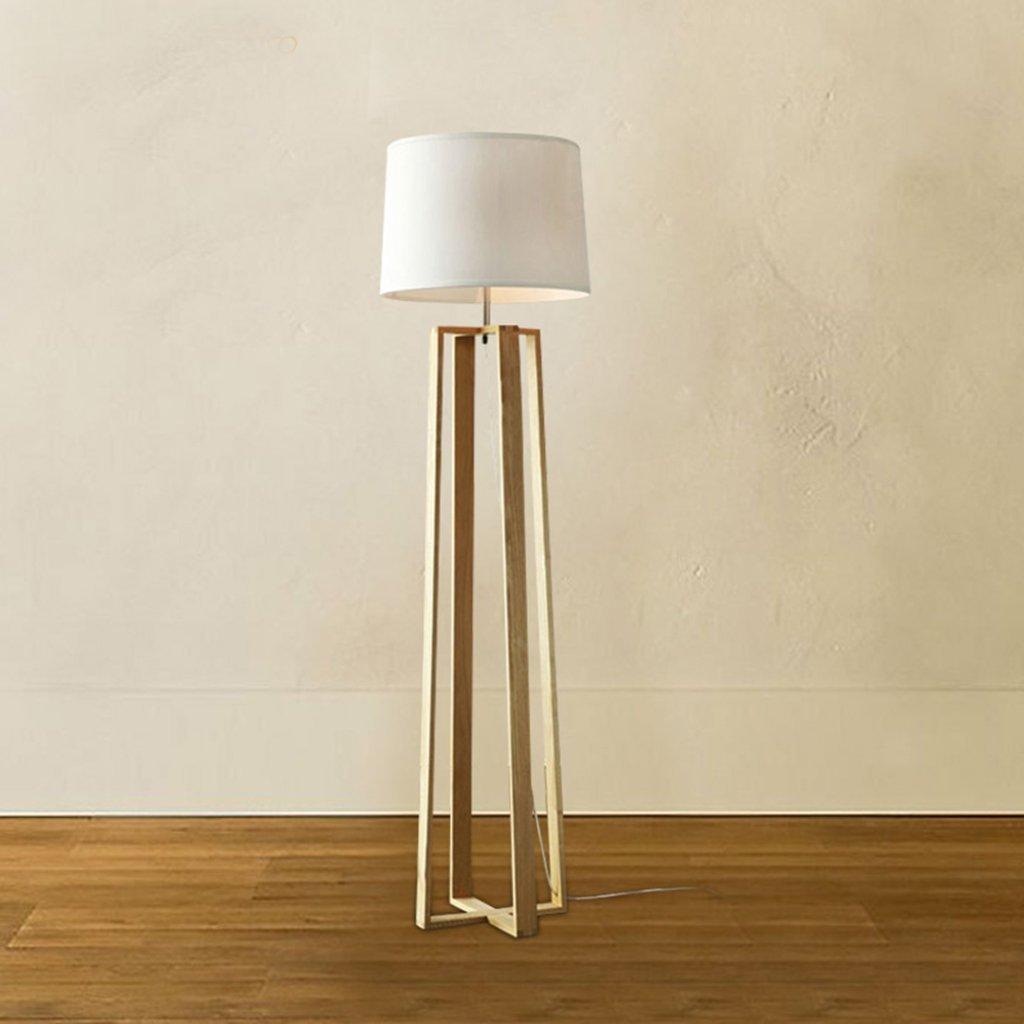 Get quotations · wenbo home modern minimalist creative floor lamp living room bedroom study floor lamp wooden wood