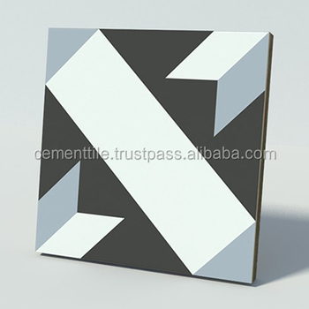 CTS 12.6 Encaustic cement tile made in Vietnam high quality export to USA