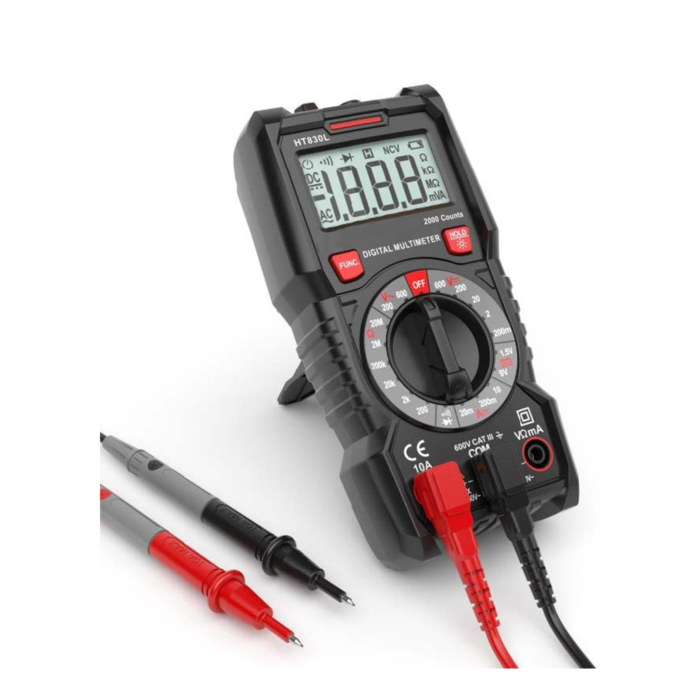 HT- 830L Test resistance and auto power off  2000 Counts Digital Multimeter