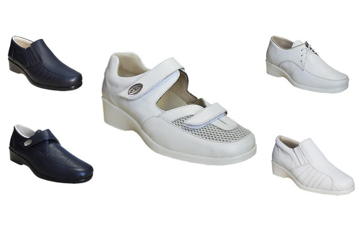 Class Shoes White Navy Leather Nursing Hotels Hospitals Quality First and With for wZrZEqxX7
