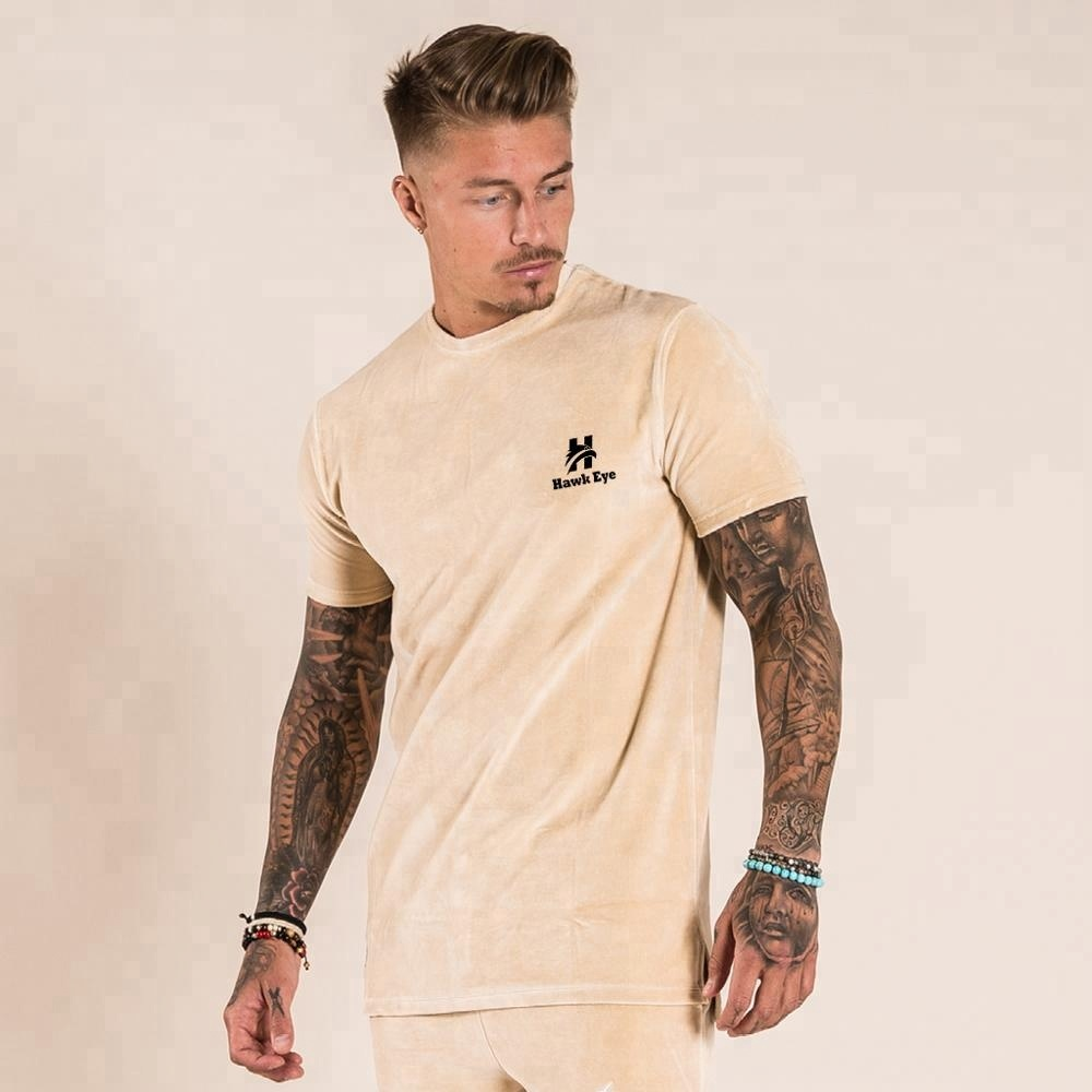 Custom Suede Cotton T Shirts For Mens Manufactured By Hawk Eye Co