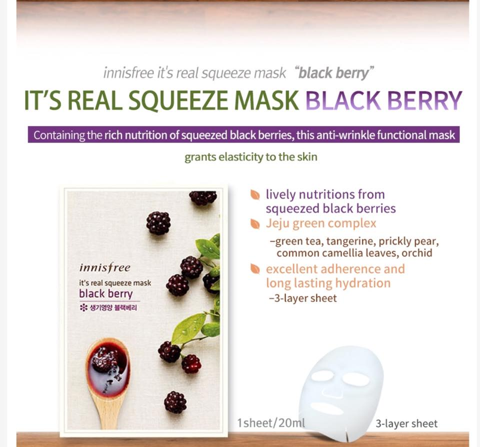 Innisfree My Real Squeez Mask Buy Korean Skin Careinnisfree Squeeze Black Berry Please Contact Us At Phamatpndrebagvn For Retail Or Wholesales Price Details Skype Thuha0605 Further Information Inquiry