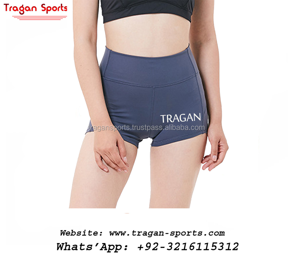 Training Yoga Shorts Women Grey Light Blue Booty Shorts