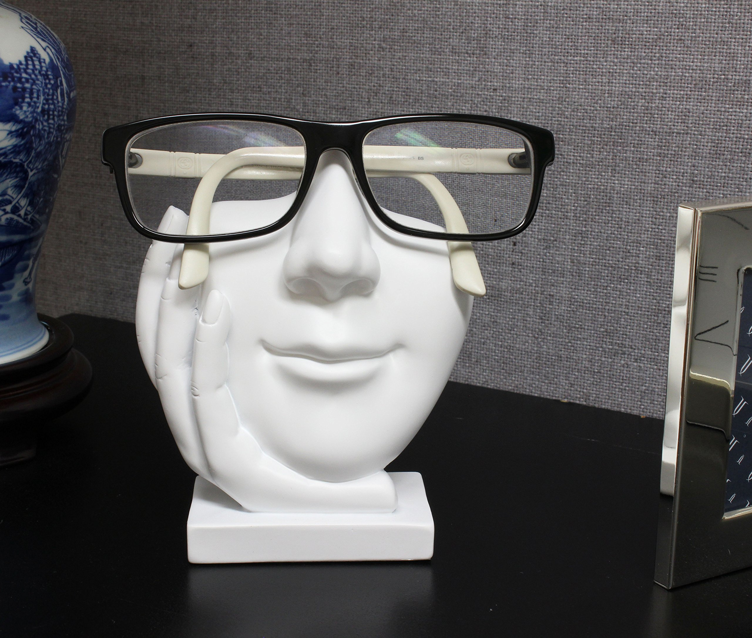 a82809444c2c4 Artsy Face Eyeglass Holder Stand - Sculpted Nose for Eyeglasses or  Sunglasses