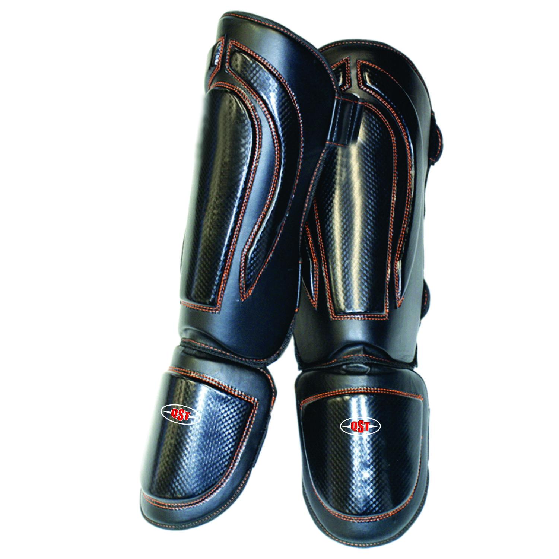 หนังเจลชิน Instep แผ่นมวยขาป้องกันมวยไทย MMA เตะมวยเท้ายาม