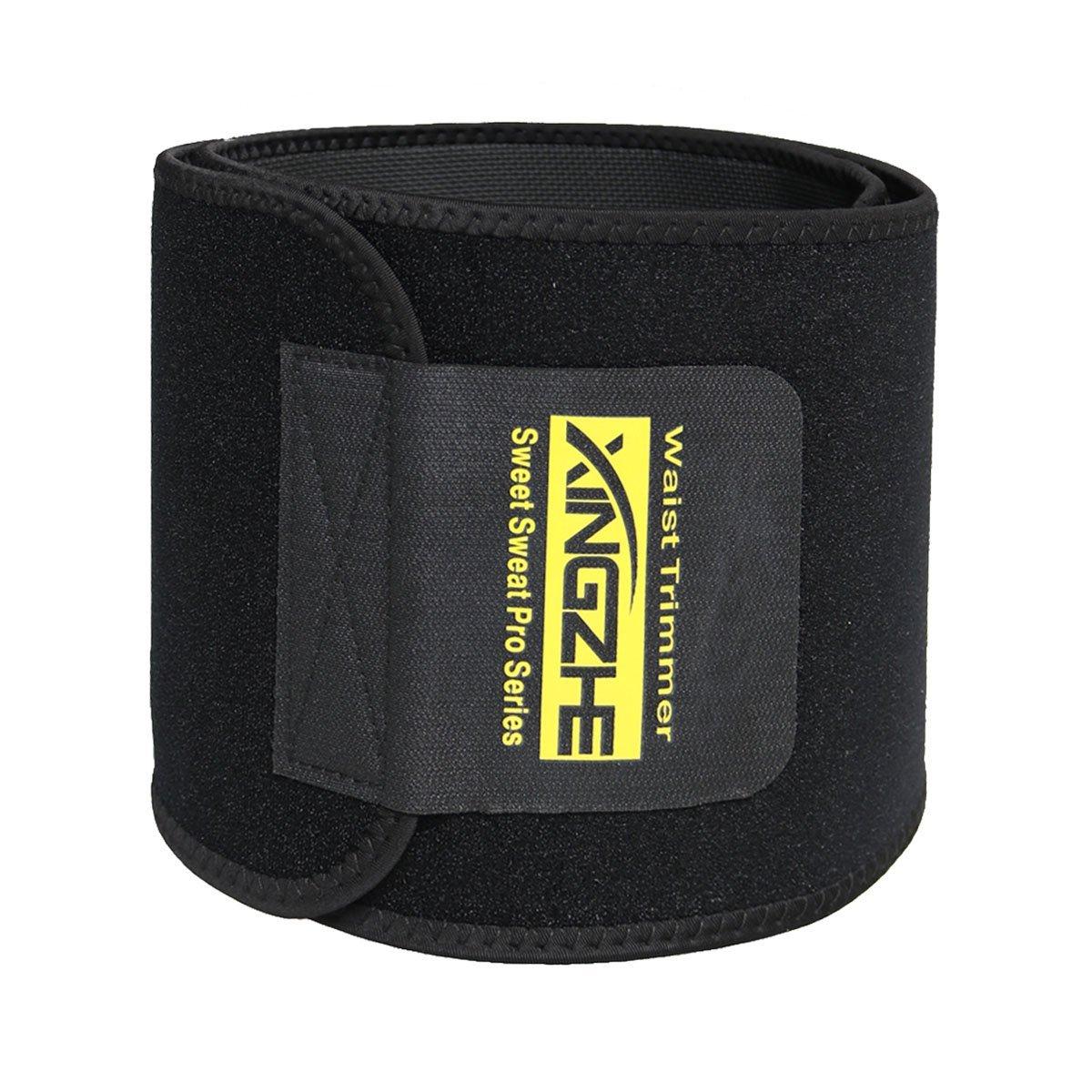 Waist Trimmer - Weight Loss Ab Belt - Exercise Waistband - Abdominal Support Belt - Adjustable Workout Wraps for Women & Men - Belly Sweat Band Fat Burner Weight Slimming Belt