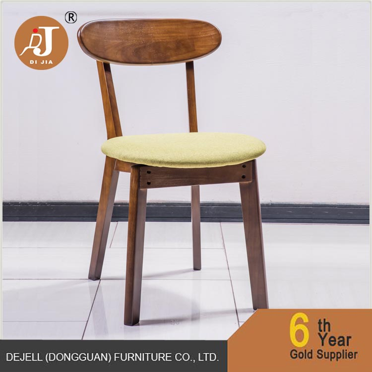 French Style Oak Wood Dining Chair With Soft Cushion.jpg