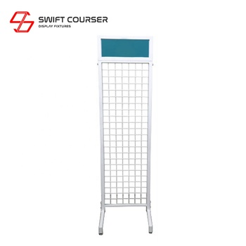 Retail store wire mesh panels wall grid display