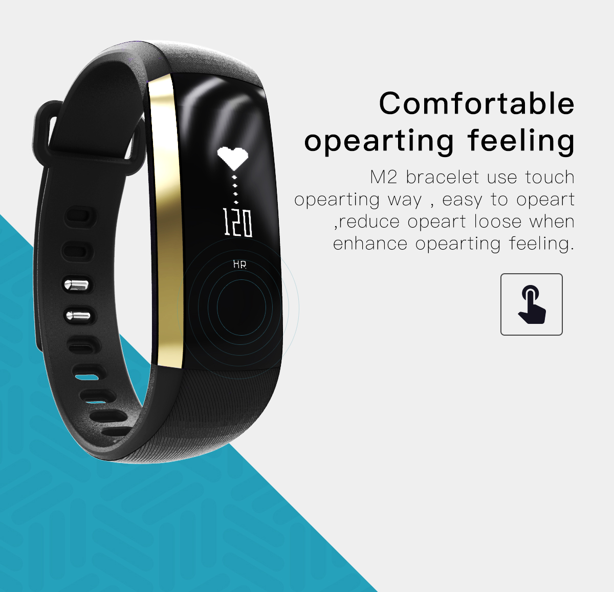 M2 Heart Rate Monitor Blood Pressure Monitor Smart Bracelet Fitness Tracker Watch