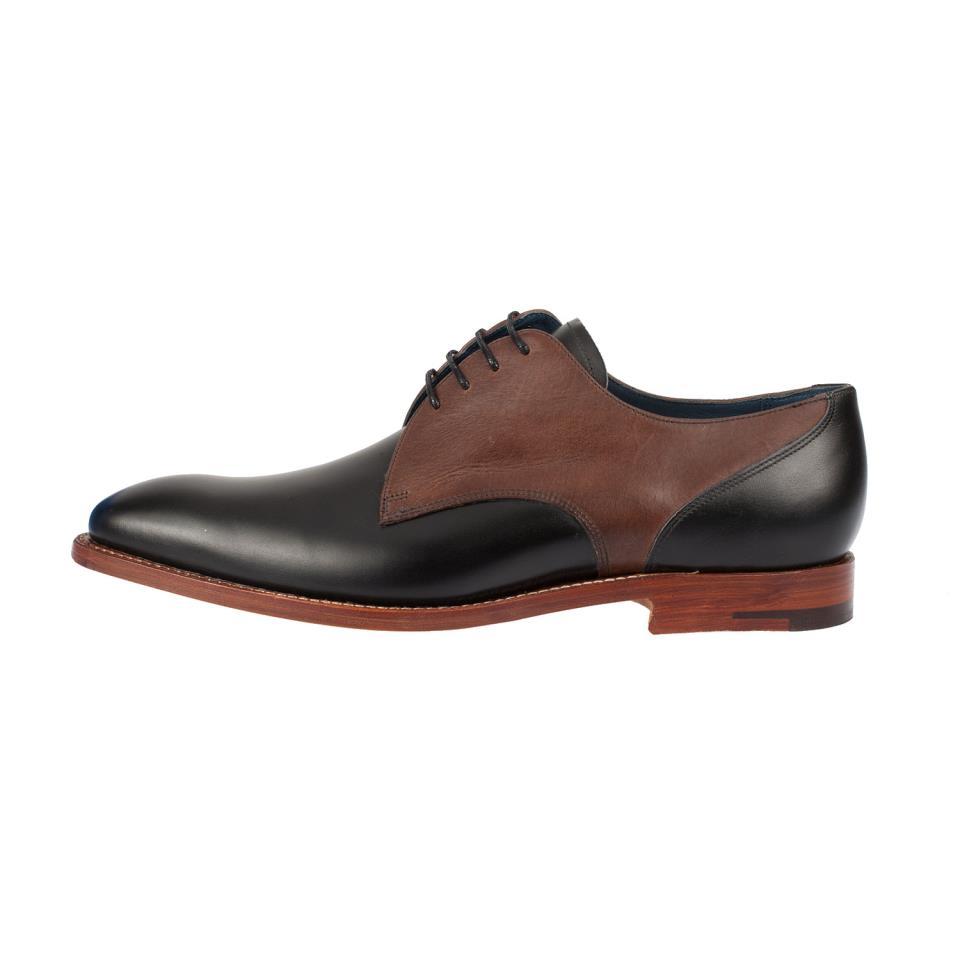 Shoes Men Brown Genuine Derby Black Leather Laces 5ranxwrFYv