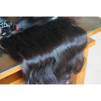 Natural hair Vietnam unprocessed blunt cut human hair extension for wholesale price 2018