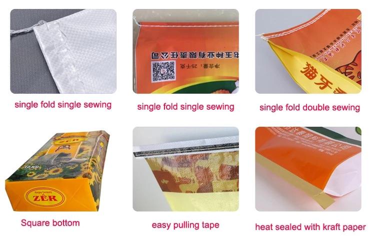 Model pp geweven zak leverancier BOPP gelamineerd waterdichte plastic transparante 10 kg/25 kg/30 kg/50 kg verpakking zak rijst