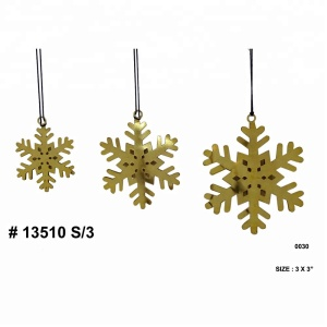 New arrival home Christmas decor metal snow flake and snowflake hanging Christmas ornament