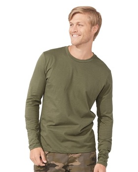 2f8c56f2639b56 Next Level Apparel Men s Premium Fitted Long Sleeve Crew Shirt - made from  100% combed