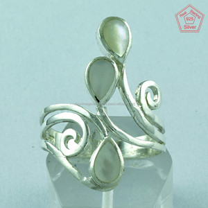 925 Sterling Silver Rings Wholesale Natural Shell Jewellery 925 Stamped Rings