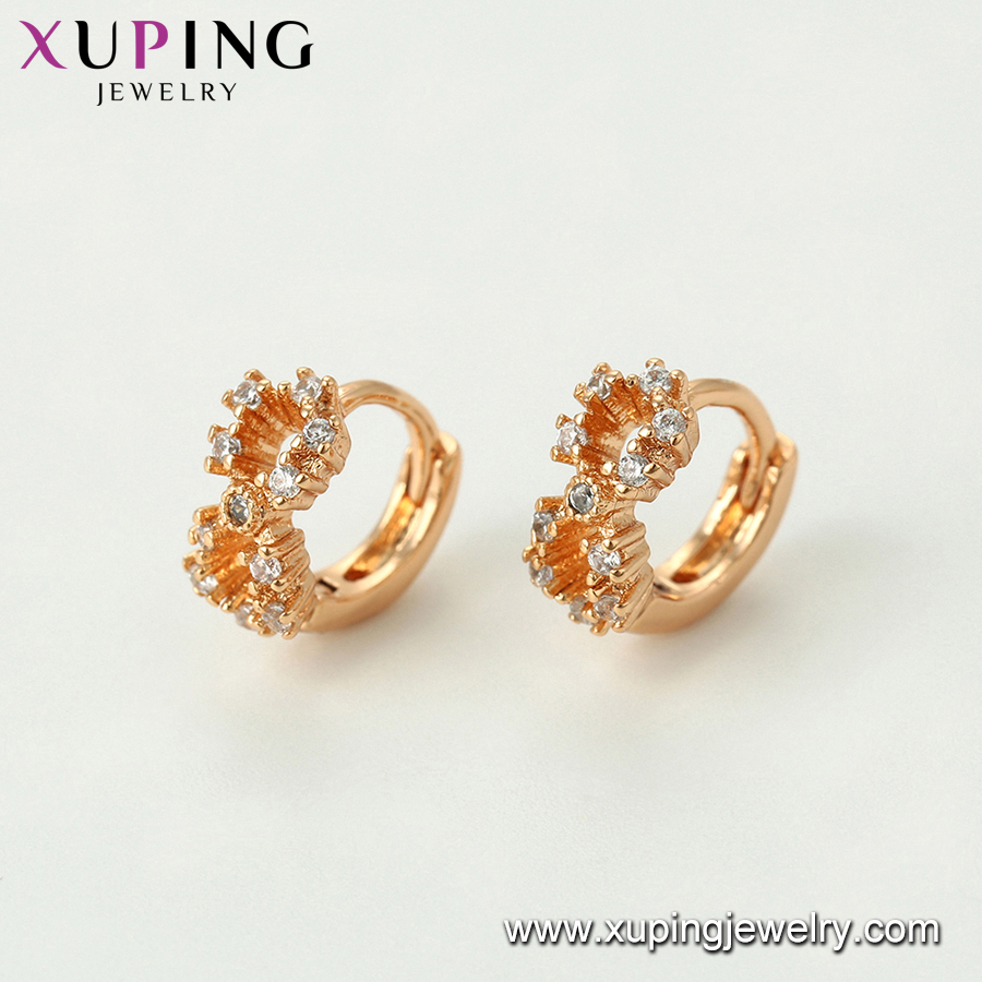 96507 xuping number-8- Synthetic CZ kid earring