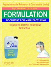 formula document for making CONCRETE CURING COMPOUND RESIN WAX