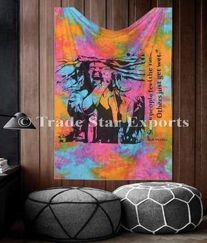 Artistic Home Decor Singer Love Bob Marley Bohemian Wall Hanging Tie Dye Tapstry