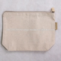 Hot popular round roll n go cotton canvas tote cosmetic bag for girls