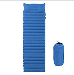 TPU Inflatable Outdoor Sleeping pad camping mattress , Cushion with Build-in Pillow and Pack Bag,Super Lightweight Multipurpose Waterproof Material for Outdoor Activities Hiking ,Camping