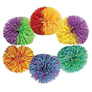Set of 2 Koosh Balls Random Color Colors May Vary