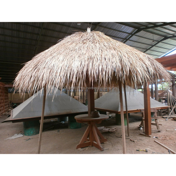 Easily assembled outdoor wooden umbrella thatch roof for beach