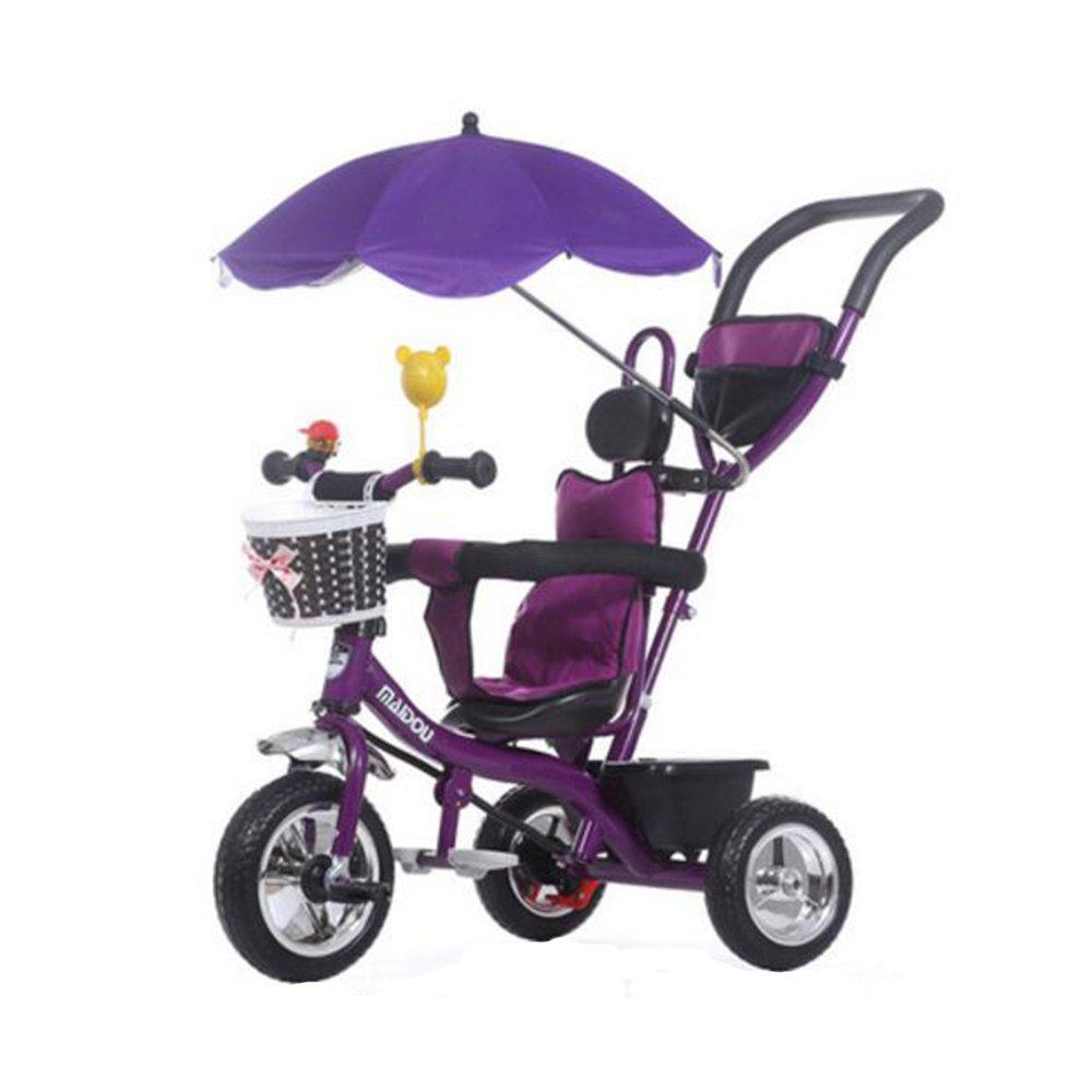 KOOK Wheelchair Pushchair Baby Stroller and Holder Parasol UV Rays Rain Sun Canopy,Stretchable Pram Stroller Chair Bicycle Umbrella Holder Clip Clamp,Waterproof and UV resistant umbrella (Violet)