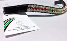 5 Row Crystal Leather Browbands