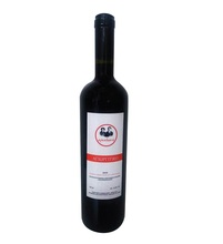Traditional Agioritiko Red Dry Wine in Bottle Glass from Greece - 750ml