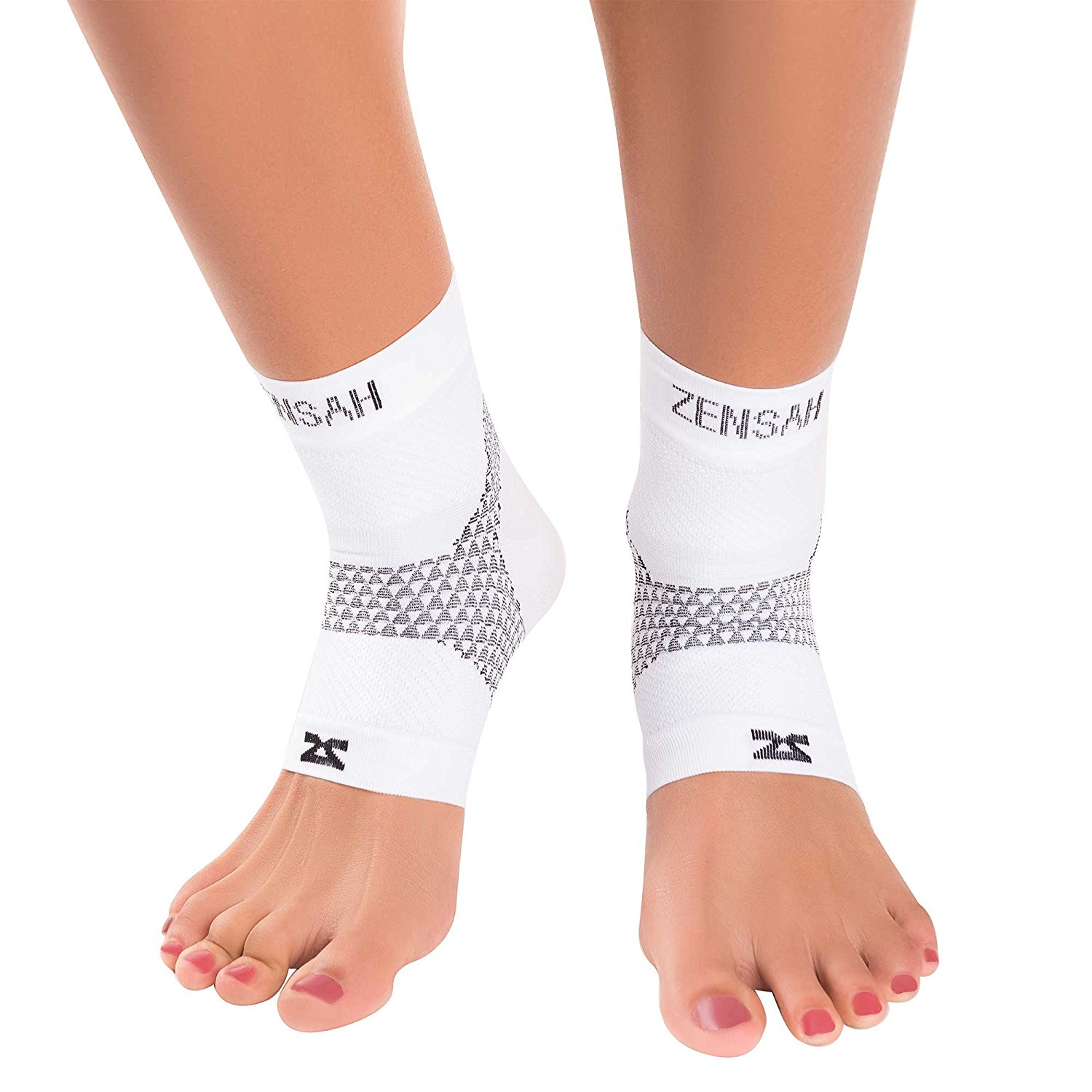 Zensah Plantar Fasciitis Sleeve - Relieve Heel Pain, Arch Support, Reduce Swelling - Compression Foot Sleeve, Plantar Fasciitis Sock