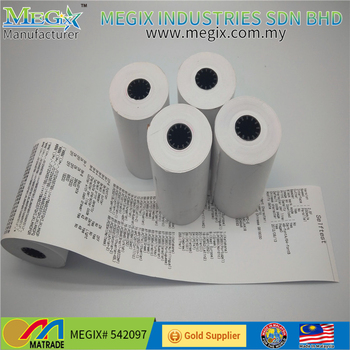 Grade A Quality Cash Register Paper Black Image Direct Thermal Paper Rolls  57*40mm - Buy Thermal Paper 57mm,Cash Register Paper Roll,Direct Thermal