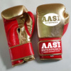 Golden Color Shine leather pro Fighter Boxing Gloves With Customized Logo